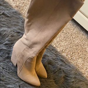 Tan BCBG just below the knee boots size 8.5